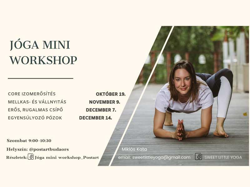 4 jóga mini workshop – 4 téma