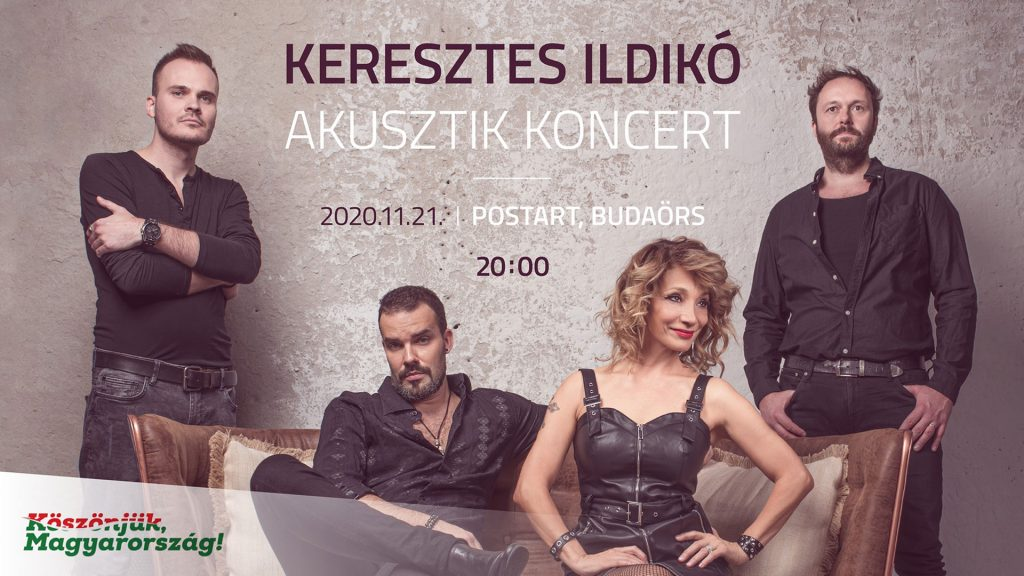 Online közvetítés! – November 21. – Keresztes Ildikó Akusztik koncert